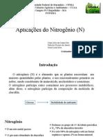 Aplicações Do Nitrogênio (N)