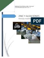 Zinc y Aleaciones-Ing. de Materiales II