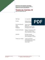 ESIME ZAC IPN Guia ETS -Guia ETS - Teoría del Control 2 Teoría Del Control 2 - MAFB