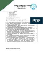 Cuestionario Columna Vertebral