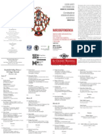 Cuadriptico Simposio Narcodependencia - Narconarrativa - Narcocultura 2015