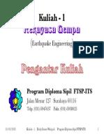 Gempa study 1