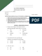 Soalan Pra Ppt Matematik t1 2015