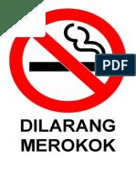 Label Dilarang Merokok