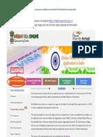 Indian Visa Tutorial