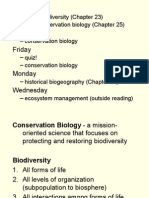 19 - Conservation Biology