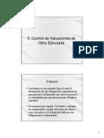 5 Control de Valuaciones
