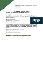 Los Adjetivos Posesivos en Inglés y Español