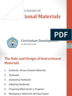 The Role and Design of Instructional Materials