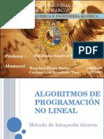 Algoritmos de Programación No Lineal