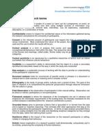 Qualitative Critical Appraisal Glossary