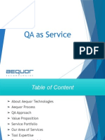 Aequor Technologies - QA as Service