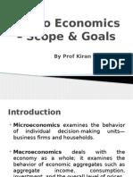 Scope and Goals of Macroeconomics