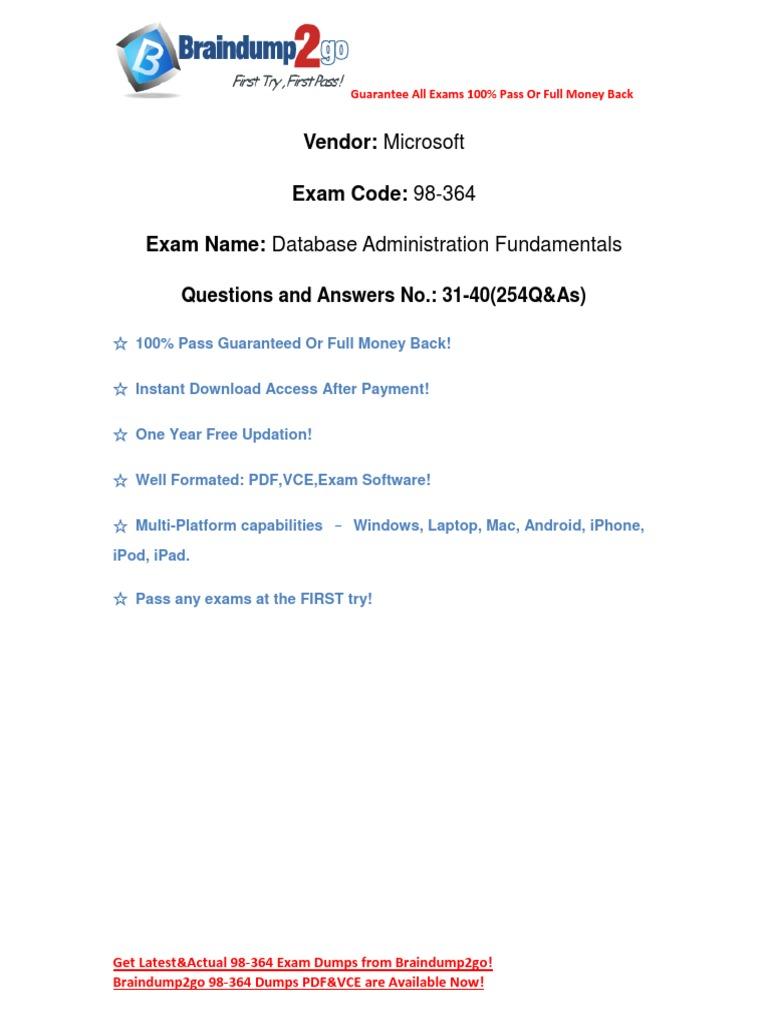 98-364 pdf exam