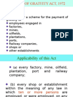 Payment of Gratuity Act-1972