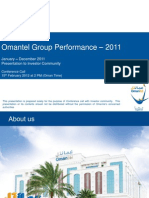 Omantel Performance 2011-Q4 Final