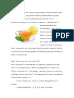 Tea and its antioxidants