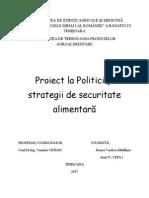 Politici si strategii in industria alimentara