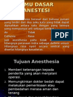 Dasar Dasar Anesthesi