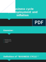 Business Cycle ,Unemployment and Inflation