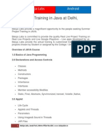 Live Project Training in Java at Delhi, Janakpuri