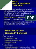 3.3.6 Durability of Concrete