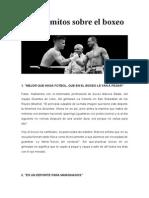 Falsos Mitos Sobre El Boxeo