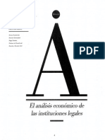 Apuntes Derecho, El análisis económico de las instituciones legales.