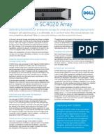 DellStorage SC4020 Spec Sheet 030714