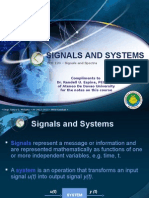Lec 1 - Signals and Systems