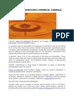 Castor Oil Ethoxylates Empirical Formula