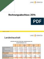 Rechnungsabschluss 2014
