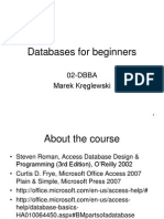 Databases for Beginners