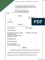 Interscope Records et al v. Doe - Document No. 8