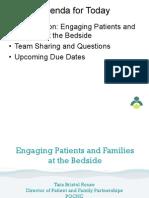 PQCNC CMOP Webinar - Engaging Families at The Bedside