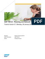 SAP TM  - Planning and Network Tutorial