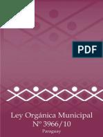 Ley N° 3966/10 Orgánica Municipal República del Paraguay