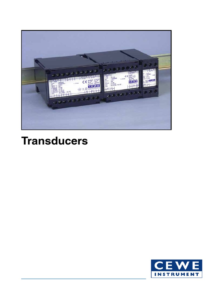 Transducers Catalogue | Direct Current | Signal (Electrical Engineering)