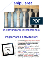 Manipularea in Comunicarea Interpersonala