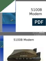 5100B Modem Troubleshooting