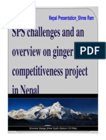 SPS challenges and an overview on ginger competitiveness project in Nepal
