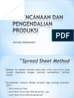 Metode Spreadsheet