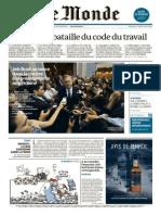 Le Monde Du Mardi 16 Juin 2015