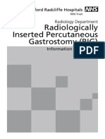 Radiologically Inserted Percutaneous Gastrostomy