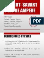 Ley Biot Savart y Ley de Ampere