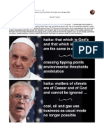 The Popes Encyclical Says Business-As-Usual Use of Coal Oil and Gas Are No Longer Viable