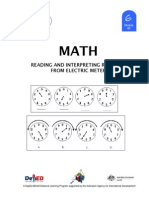 Math 6 DLP 60 - Reading and Interpreting Reading From Electric Meter