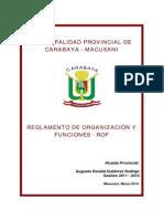 Reglamento de Organizacion y Funciones 2011