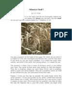 Wheat or Chaff