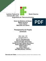 Relatório de Testes Projeto ZoneCalc